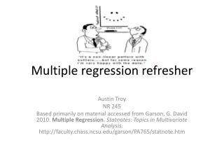Multiple regression refresher