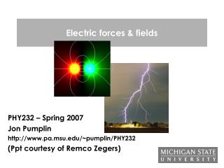 Electric forces & fields