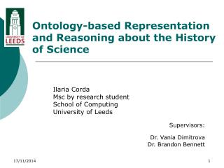 Ontology-based Representation and Reasoning about the History of Science