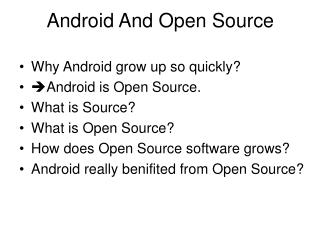 Android And Open Source