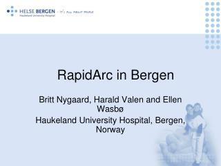 RapidArc in Bergen