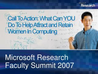 Call To Action: What Can YOU Do To Help Attract and Retain Women In Computing