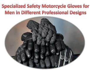 Specialized Safety Motorcycle Gloves for Men