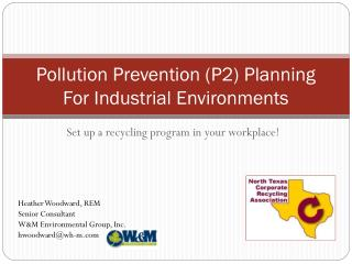 Pollution Prevention (P2) Planning For Industrial Environments