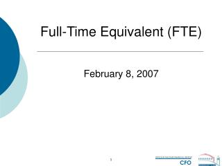 Full-Time Equivalent (FTE)