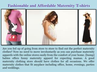 Fashionable and Affordable Maternity T-shirts