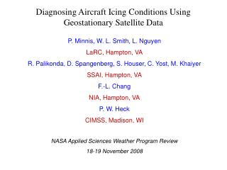 Diagnosing Aircraft Icing Conditions Using Geostationary Satellite Data