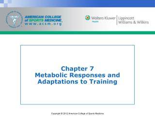 Chapter 7 Metabolic Responses and Adaptations to Training