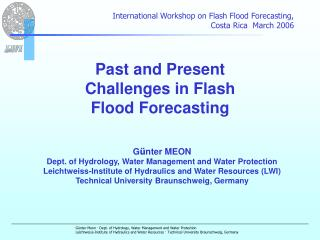 Past and Present Challenges in Flash Flood Forecasting