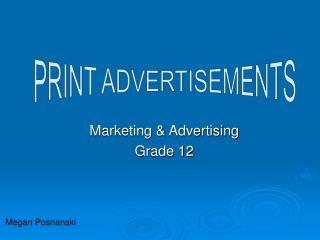 Marketing & Advertising Grade 12