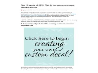 Top 10 trends of 2015: Plan to increase ecommerce conversion