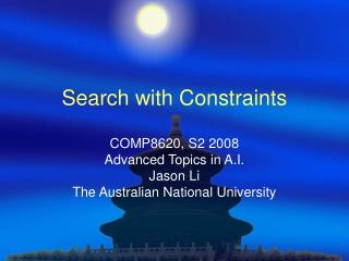 Search with Constraints