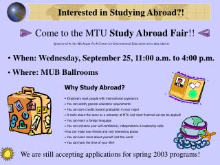 Interested in Studying Abroad?!
