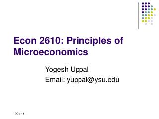 Econ 2610: Principles of Microeconomics