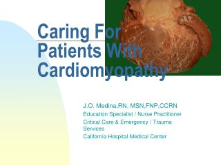 Caring For Patients With Cardiomyopathy