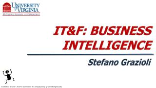 IT&F: BUSINESS INTELLIGENCE