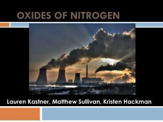 Oxides of  NItrogen