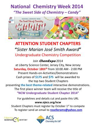 "ATTENTION STUDENT CHAPTERS "" Sister Marian  José  Smith Award """