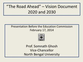 """The Road Ahead"" – Vision Document 2020 and 2030"