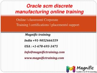 oracle scm discrete manufacturing online training