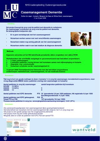 Casemanagement Dementie