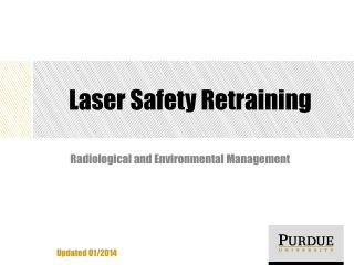 Laser Safety Retraining