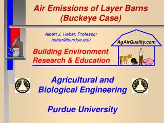 Air Emissions of Layer Barns (Buckeye Case)