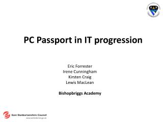 PC Passport in IT progression