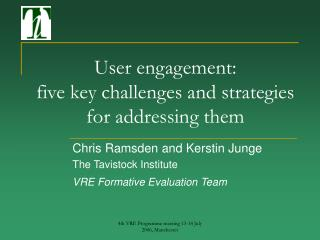 User engagement:  five key challenges and strategies for addressing them