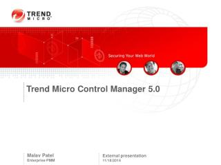 Trend Micro Control Manager 5.0