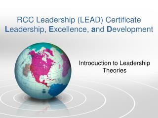RCC Leadership (LEAD) Certificate L eadership,  E xcellence,  a nd  D evelopment