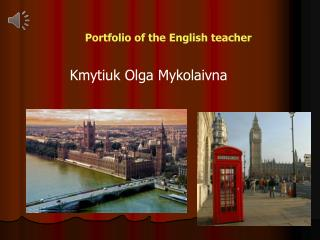 Portfolio of the English teacher