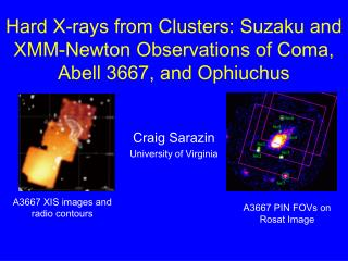 Hard X-rays from Clusters: Suzaku and XMM-Newton Observations of Coma, Abell 3667, and Ophiuchus