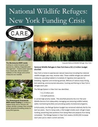 National Wildlife Refuges in New York face a $11.3 million budget shortfall