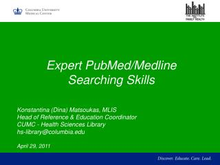 Expert PubMed/Medline  Searching Skills