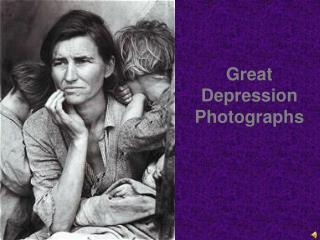 Great Depression Photographs