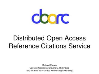 Distributed Open Access Reference Citations Service