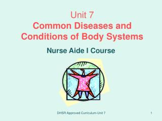 Unit 7 Common Diseases and Conditions of Body Systems