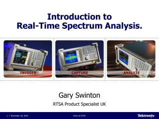 Introduction to   Real-Time Spectrum Analysis.