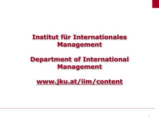 Why study International Management?