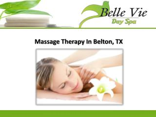 Massage Therapy In Belton, TX