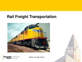Rail Freight Transportation