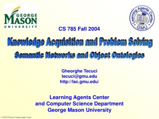 Knowledge Acquisition and Problem Solving