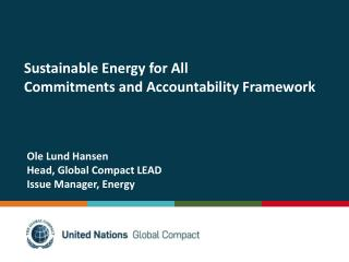 Sustainable Energy for All Commitments and Accountability Framework