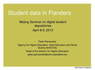 Student data in Flanders