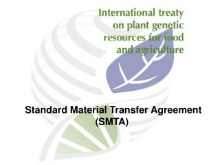 Standard Material Transfer Agreement (SMTA)