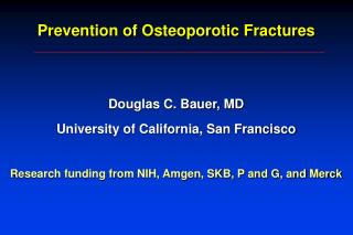 Prevention of Osteoporotic Fractures
