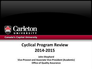 Cyclical Program Review 2014-2015