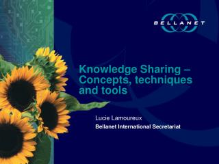 Knowledge Sharing –Concepts, techniques and tools