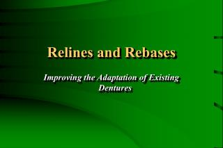 Relines and Rebases